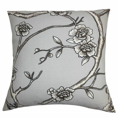 Mangels Floral Bedding Sham Size: Queen, Color: Gray