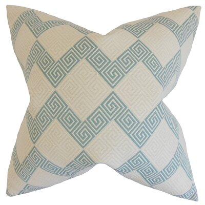 Sandrine Geometric Bedding Sham Size: Queen, Color: Teal
