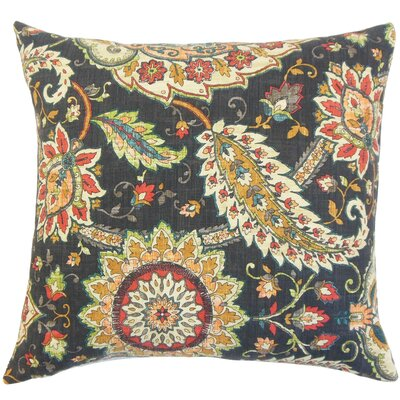 Harum Floral Bedding Sham Size: Euro, Color: Black