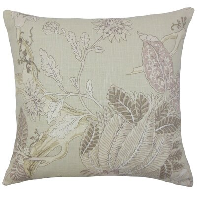 Delmon Floral Bedding Sham Size: Queen