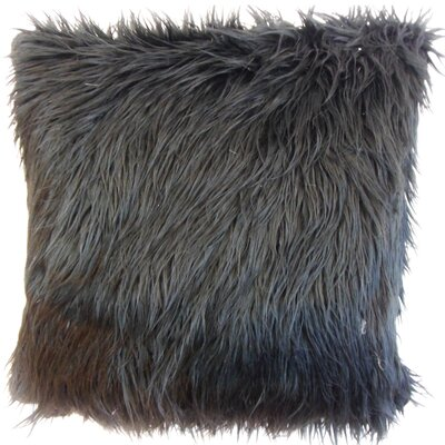 Deloris Solid Faux Fur Bedding Sham Size: Euro