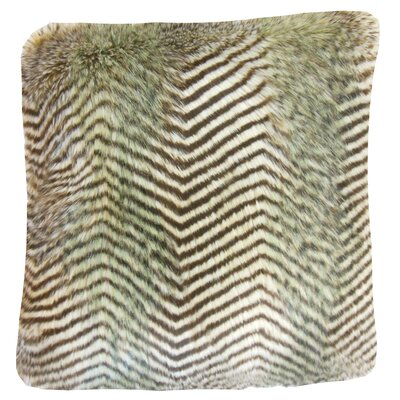 Deloris Chevron Faux Fur Bedding Sham Size: Euro