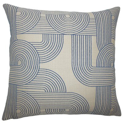Utara Geometric Throw Pillow Size: 20 H x 20 W x 5 D, Color: Navy