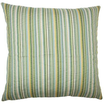 Daube Striped Throw Pillow Size: 20 H x 20 W x 5 D, Color: Meadow