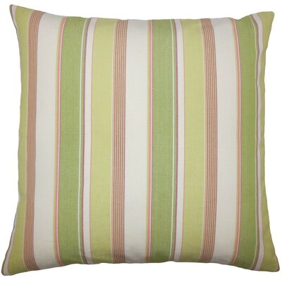 Saroja Striped Cotton Throw Pillow Size: 18 H x 18 W x 5 D, Color: Kiwi Pink