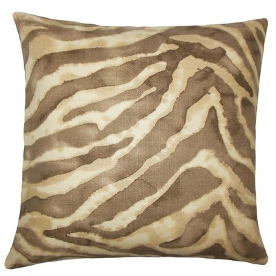 Zelig Animal Print Cotton Throw Pillow Size: 18 H x 18 W x 5 D