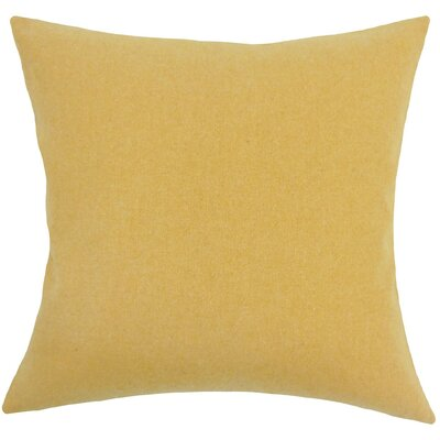 Acadia Solid Wool Throw Pillow Size: 18 H x 18 W x 5 D