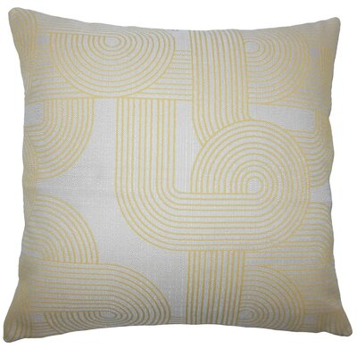 Utara Geometric Throw Pillow Size: 20 H x 20 W x 5 D, Color: Sunshine