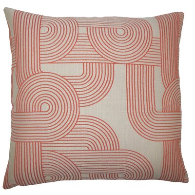 Utara Geometric Throw Pillow Size: 18 H x 18 W x 5 D, Color: Tangerine