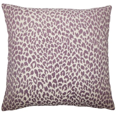 Banagher Animal Print Throw Pillow Size: 18 H x 18 W x 5 D, Color: Orchid