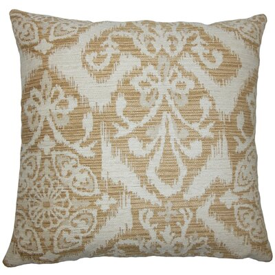 Ingalill Ikat Throw Pillow Size: 18 H x 18 W x 5 D, Color: Sandstone