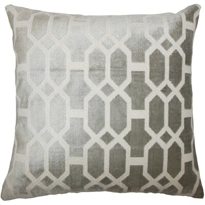 Laine Geometric Throw Pillow Size: 18 H x 18 W x 5 D, Color: Grey