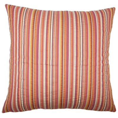 Daube Striped Throw Pillow Size: 18 H x 18 W x 5 D, Color: Cabana