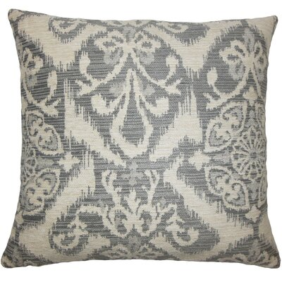 Ingalill Ikat Throw Pillow Size: 20 H x 20 W x 5 D, Color: Fog
