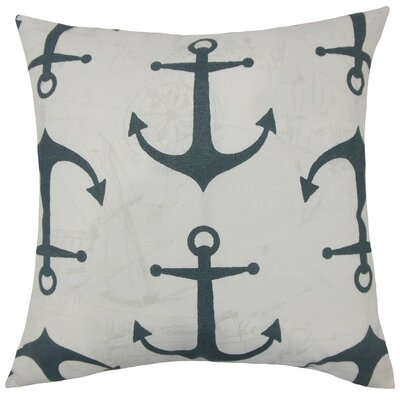 Ilys Graphic Throw Pillow Size: 18 H x 18 W x 5 D, Color: Cavern