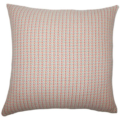 Paley Cotton Throw Pillow Size: 18 H x 18 W x 5 D, Color: Apricot