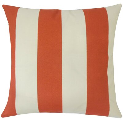 Kanha Striped Throw Pillow Size: 18 H x 18 W x 5 D, Color: Canyon