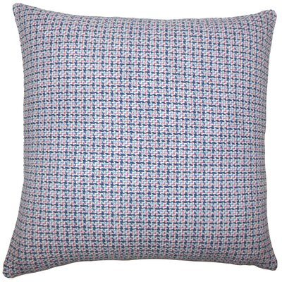 Paley Cotton Throw Pillow Size: 18 H x 18 W x 5 D, Color: Blueberry