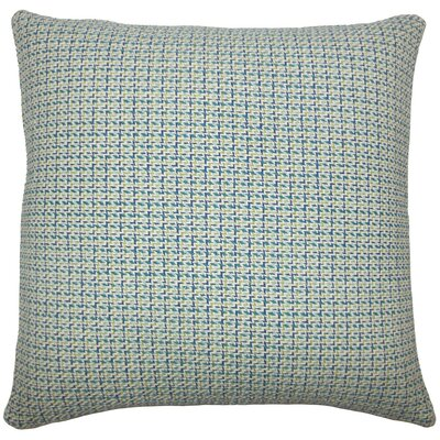 Paley Cotton Throw Pillow Size: 18 H x 18 W x 5 D, Color: Blue Green