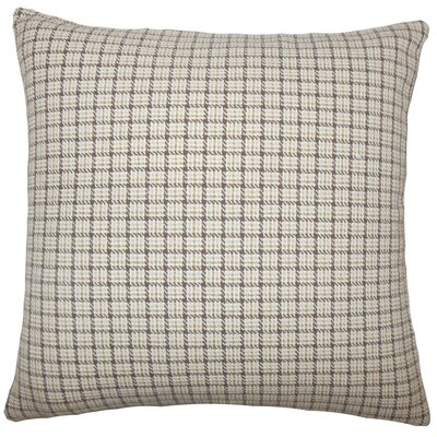 Quora Plaid Cotton Throw Pillow Size: 18 H x 18 W x 5 D, Color: Toffee