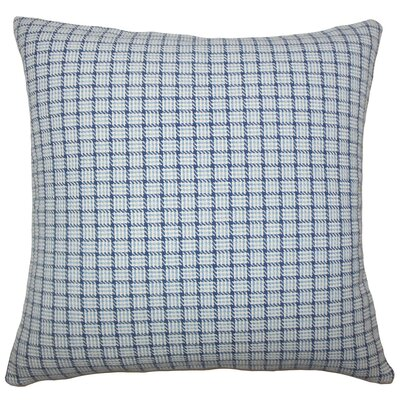 Quora Plaid Cotton Throw Pillow Size: 18 H x 18 W x 5 D, Color: Blue
