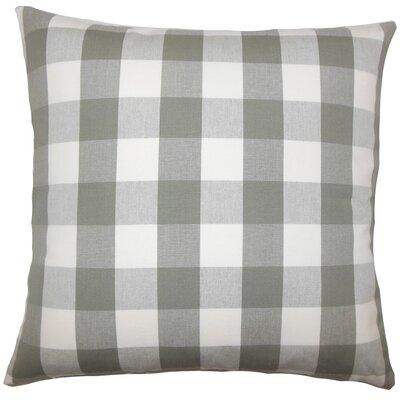 Nelson Plaid Cotton Throw Pillow Size: 18 H x 18 W x 5 D, Color: Iron