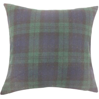 Camryn Plaid Wool Throw Pillow Size: 20 H x 20 W x 5 D