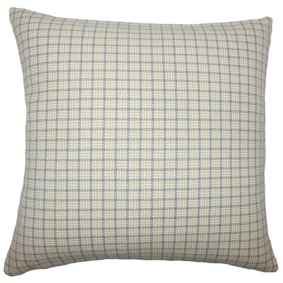 Quora Plaid Cotton Throw Pillow Size: 18 H x 18 W x 5 D, Color: Sunflower