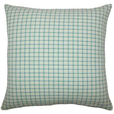 Quora Plaid Cotton Throw Pillow Size: 18 H x 18 W x 5 D, Color: Aegean