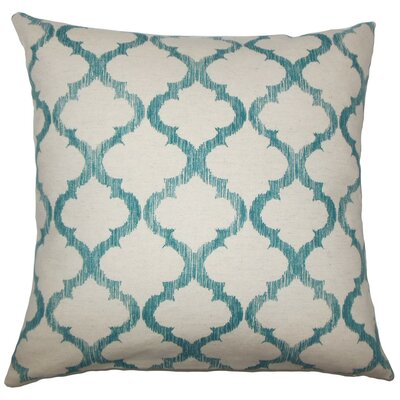 Fortuo Geometric Throw Pillow Size: 18 H x 18 W x 5 D, Color: Teal