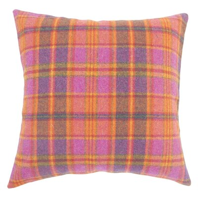 Javion Plaid Wool Throw Pillow Size: 18 H x 18 W x 5 D