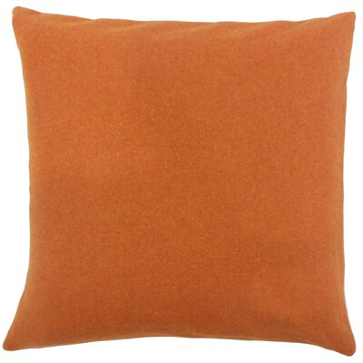 Vella Throw Pillow Size: 18 H x 18 W x 5 D, Color: Pumpkin