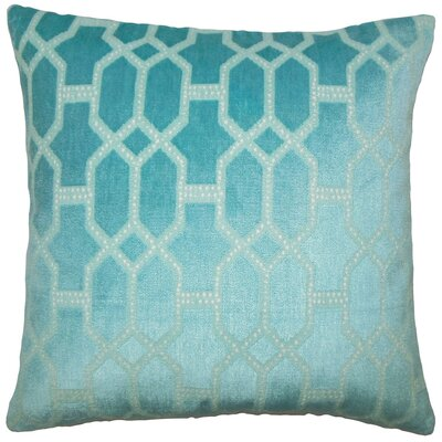 Laine Geometric Throw Pillow Size: 18 H x 18 W x 5 D, Color: Turquoise