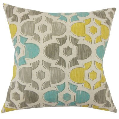 Bhayva Geometric Cotton Throw Pillow Size: 20 H x 20 W x 5 D, Color: Laken
