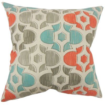 Zane Geometric Cotton Throw Pillow Size: 18 H x 18 W x 5 D