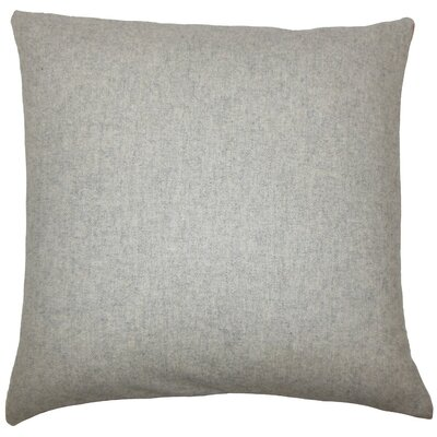 Vella Indoor Wool Throw Pillow Size: 18 H x 18 W x 5 D, Color: Grey