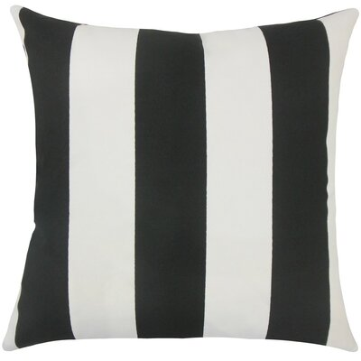 Kanha Striped Throw Pillow Size: 18 H x 18 W x 5 D, Color: Black