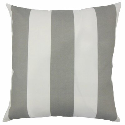 Kanha Striped Throw Pillow Size: 20 H x 20 W x 5 D, Color: Grey