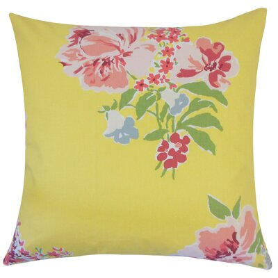 Ranya Floral Cotton Throw Pillow Size: 18 H x 18 W x 5 D