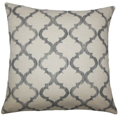 Fortuo Geometric Throw Pillow Color: Grey, Size: 20 H x 20 W x 5 D