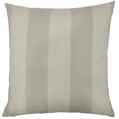 Kanha Striped Throw Pillow Size: 20 H x 20 W x 5 D, Color: Grey / White