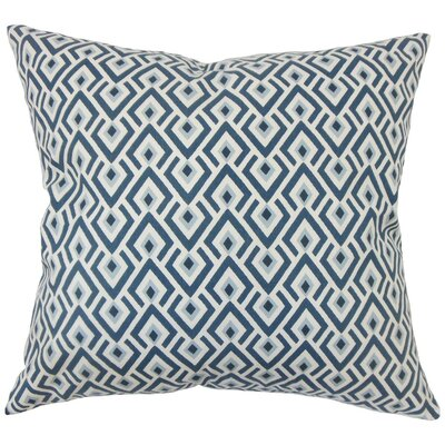 Abhinav Geometric Cotton Throw Pillow Size: 18 H x 18 W x 5 D, Color: Navy