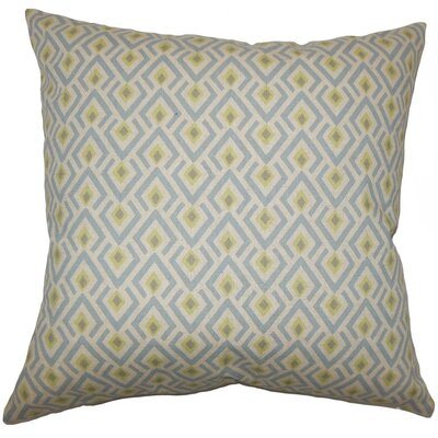Hardeman Geometric Cotton Throw Pillow Size: 18 H x 18 W x 5 D, Color: Blue