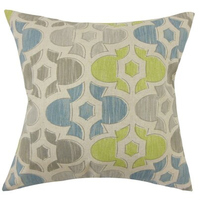 Bhayva Geometric Cotton Throw Pillow Size: 18 H x 18 W x 5 D, Color: Florence
