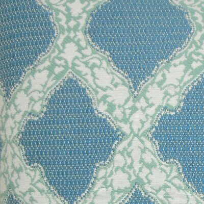 Rajiya Geometric Bedding Sham Size: King, Color: Turquoise