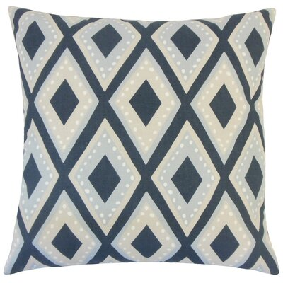 Shasa Geometric Cotton Throw Pillow Size: 18 H x 18 W x 5 D, Color: Midnight