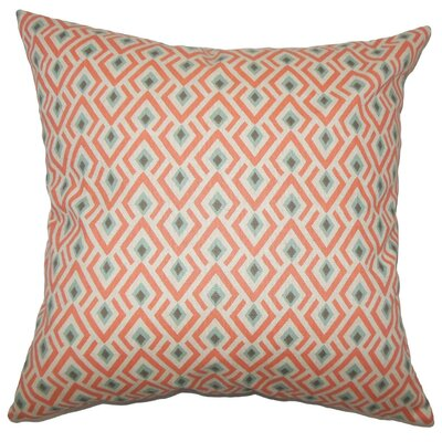 Hardeman Geometric Cotton Throw Pillow Size: 18 H x 18 W x 5 D, Color: Orange