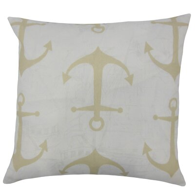 Finnegan Coastal Throw Pillow Size: 18 H x 18 W x 5 D, Color: Sand