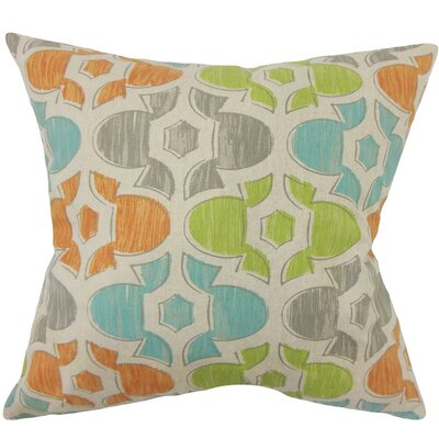 Bhayva Geometric Cotton Throw Pillow Size: 20 H x 20 W x 5 D, Color: Ridgeland