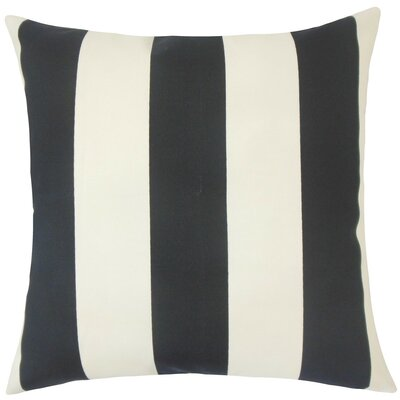 Kanha Striped Throw Pillow Size: 20 H x 20 W x 5 D, Color: Ebony